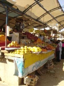 Fruits and vegetables on Sunday Bazaar