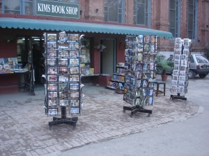 "At this post card shop in front of Lahore Museum, we met a group of students on a school excursion who asked us where we were from and then told us that ""they had come all the way from Karachi."" ;-)  So had we. ;-)"