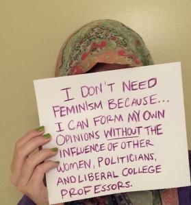 muslim woman against feminism