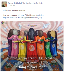 women's page wants peace